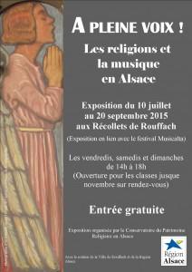 Affiche de l'exposition du Conservatoire du Patrimoine Religieux  Récollets de Rouffach 2015